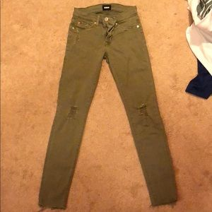 Green Hudson jeans (not high waisted)